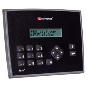 JZ20-J-UN20 Jazz HMI & Keypad, 9 Digital, 2 Digital/Analog 1 Analog, 1 TC/PT100 Inputs, 5 Relay, 1 Transistor Outputs