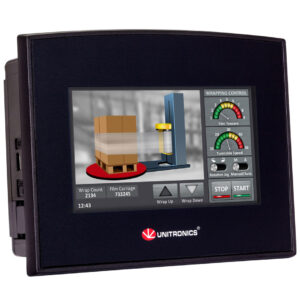 SM43-J-T20 Samba 4.3″ Touch Screen PLC & HMI, 12 Digital Inputs, including 3 HSC/Shaft-encoder Inputs, 2 Analog Inputs , 8 Transistor Outputs